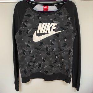 Grey Camo Nike Crew Neck Sweatshirt
